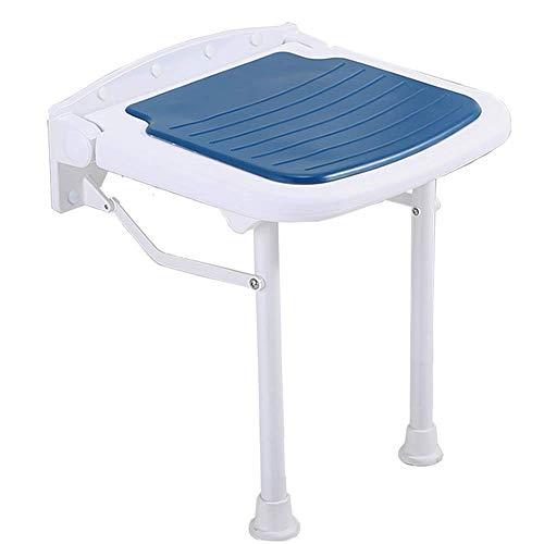 ZGYQGOO Bathing Benches & Wall-Mounted Stool Bench Folding Shower Bench Seat Bathroom Adjustable Aluminum Change Shoe Stool Non-Slip Elderly