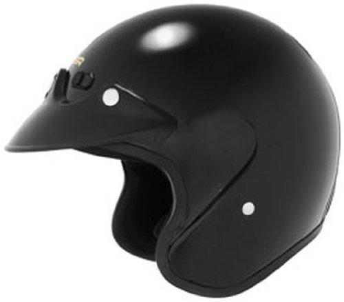 Cyber U-6 Open-Face Adult Helmet, Black, 2XL/XXL ()