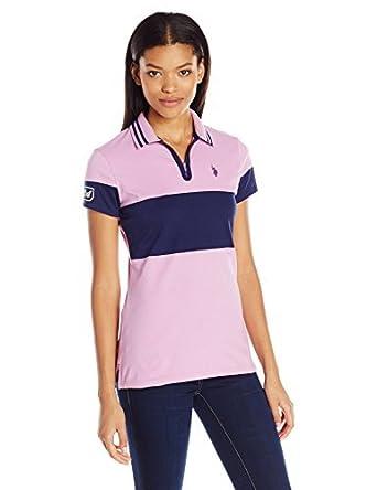 U.S. Polo Assn. para Mujer Camisa Polo - Púrpura -: Amazon.es ...