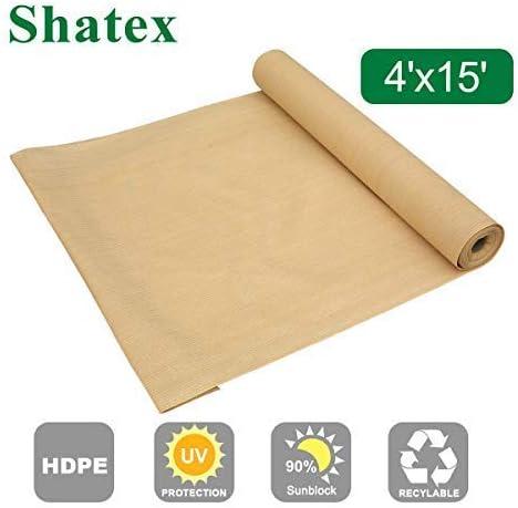 Shatex - Rollo de tela para toldo de pérgola (90 %, pantalla vertical, 1, 22 x 4, 57 m), color beige: Amazon.es: Jardín