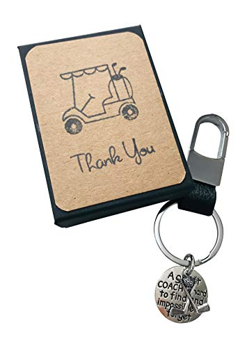 (Hand Made Golf Coach Appreciation Gift Key Chain with Golf Gift for Your Coach)