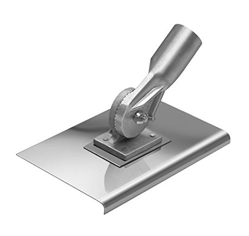 Kraft Tool CC037 10-Inch by 10-Inch Stainless Steel Walking Edger 1/2-Inch Radius with Handle Socket (Walking Concrete)
