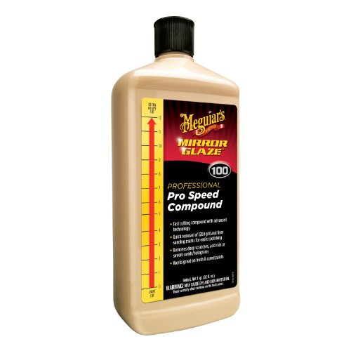 (Meguiar's M100 Mirror Glaze Pro Speed Compound, 32 oz)