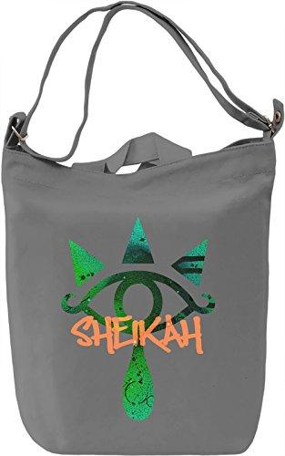 Sheikah Borsa Giornaliera Canvas Canvas Day Bag| 100% Premium Cotton Canvas| DTG Printing|