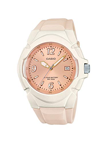 Casio Women's Sporty Stainless Steel Quartz Watch with Resin Strap, Champagne, 15 (Model: LX-610-4AVCF)