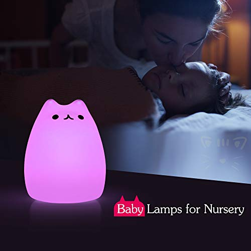 Cat Lamp,GoLine Gifts for 3 4 5 Year Old Girls,Graduation Gifts for Teen Girls,Kids Night Light for Bedroom,Kawaii Kitty…