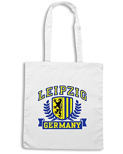 LEIPZIG TSTEM0052 Shopper GERMANY Borsa Bianca Speed Shirt Iw1qXX