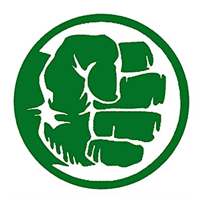 CCI The Hulk Hand Fist Avengers Marvel Comics Decal Vinyl Sticker|Cars Trucks Vans Walls Laptop|Green|5.5 x 5.5 in|CCI1994: Automotive