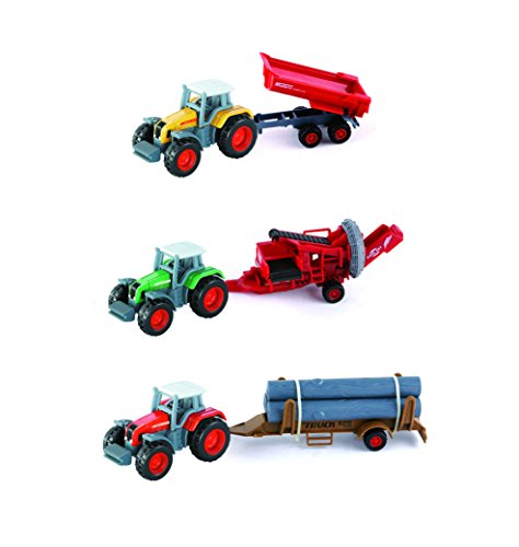 Diecast Farm Tractors with Trailer 1:72 Scale Vehicles