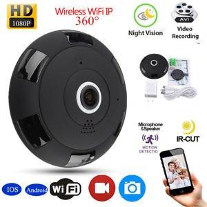 360 Degree Mini Wireless 1080P HD Fisheye WiFi Panoramic IP Camera Two Way Audio
