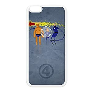 8Bit - Marvel FantasticFour White Silicon Rubber Case for iPhone 6 Plus by DevilleArt + FREE Crystal Clear Screen Protector