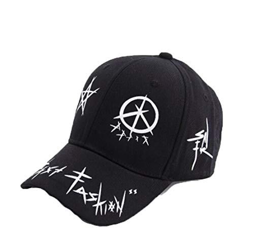 [해외]TeamX 야구 모자 남 여 비치 태양 모자 편지 인쇄 조정 가능한 면 모자 태양 보호 챙 모자 / TeamX Baseball Caps Unisex Beach Sun Hats Letter Print Adjustable Cotton Caps Sun Protection Visor hat