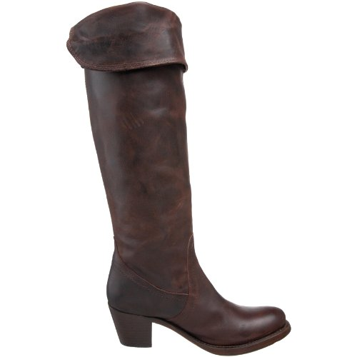 Cuff Boot Antique Jane Brown Leather Burnished Dark Tall Women's Frye RItZxqwTw