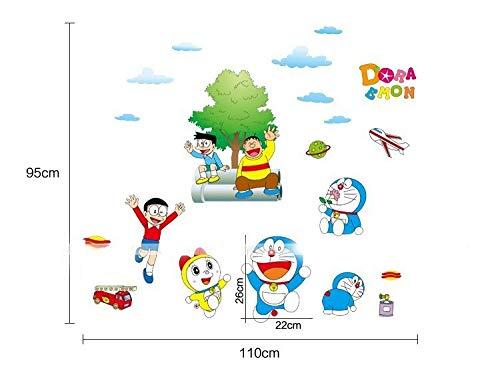 Kibi Doraemon Pegatinas de Pared Dibujos Animados Doraemon Gato Decorative Sticker Dormitorio Pegatinas De Pared para La Habitaci/ón De Los Ni/ños Extra/íble Pegatinas De Decoraci/ón De Pared