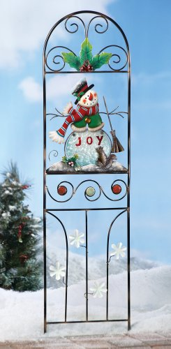 Winter Snowman Trellis Outdoor Decoration