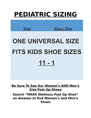 Premium Childrens Post Op Broken Toe / Foot Fracture Square Toe Walking Shoe Cast - Pediatric - Fits little kids sizes 11-1 (Approx 3.5 - 6 years old)