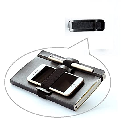 buy online 67ad7 92f67 Chris-Wang 1Pcs Elastic Black Leather Wrap Around Closure Pen & Pencil  Holder Cell Phone Organizing Loop Band for Traveler Notebooks, Journals, ...