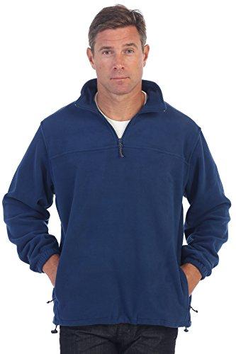 Gioberti Mens Half Zip Polar Fleece Jacket, Navy, Large