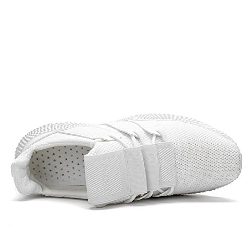 EU HLHN Uomo 40 White Bianco Sandali con Zeppa c7rgxRcp