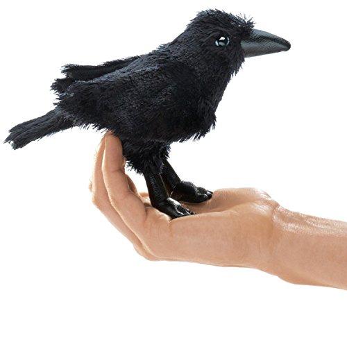 Folkmanis Mini Raven Finger -
