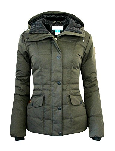 Columbia Womens Werner Peak Down Hooded Insulated Jacket Parka (L, Washed Green)