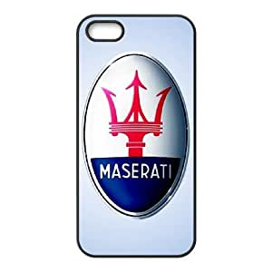 Special Design Cases iPhone 5, 5S Cell Phone Case Black Maserati Aaylu Durable Rubber Cover