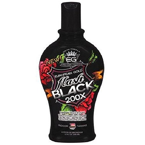 European Gold Flash Black 200x Ever Indoor Tanning Lotion, 1