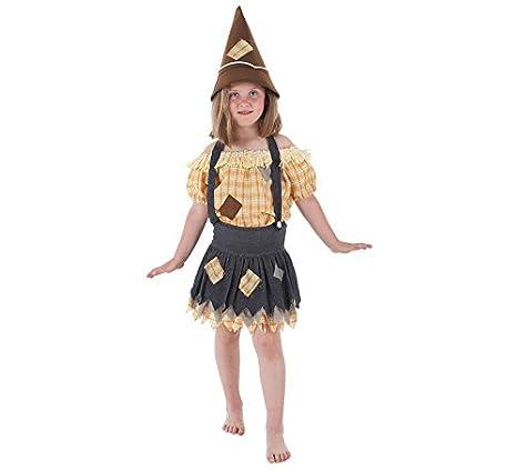 LLOPIS - Disfraz Infantil espantapájaros niña t-s: Amazon.es: Juguetes y juegos