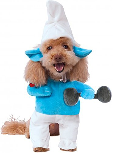 Rubie's Smurfs The Lost Village Walking Hefty Smurf Pet Costume, -