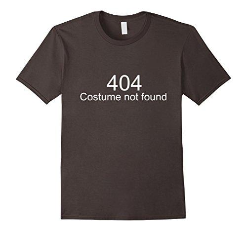 Mens Funny halloween shirt - 404 Costume not found 3XL Asphalt