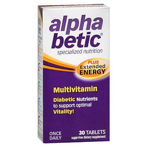 Abkit Vitamins - alpha betic Multi-Vitamin Caplets 30 Caplets (Pack of 3)