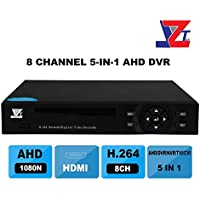 JZTEK 8ch 1080N Hybrid 5-in-1 AHD DVR (1080P NVR+1080N AHD+960H Analog +TVI+CVI) CCTV 8 channel Standalone dvr Quick QR Code Scan w/ Easy Remote View Home Security Surveillance Camera System
