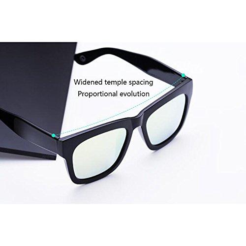 Personalidad nuevas de sol Opcio Gafas Gafas Protección casuales conducción Regalo excursionista de de Vintage al de UV400 aire polarizadas UV de libre Gafas Gafas Protección sol para Frame Gray Black sol mujer sol Matte de fZfdBw