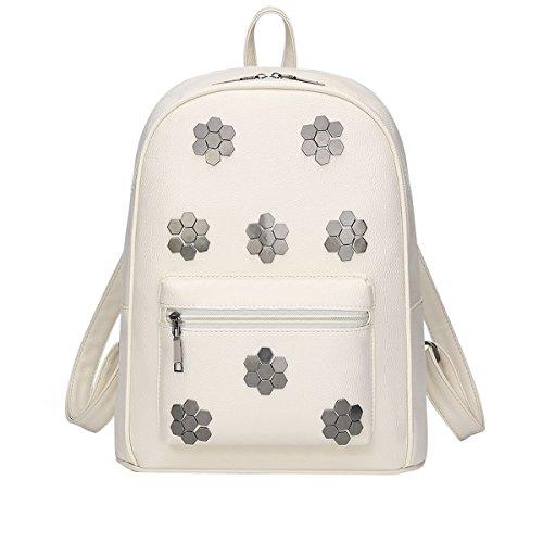 Dissa - White Woman Backpack Bag