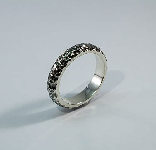 Amazon.com: Hammered Sterling Silver Ring Wedding Band