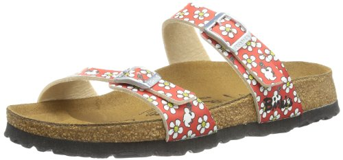 Birki's Tahiti, Women's Sandals Red - Rot (Flower Pattern Red)