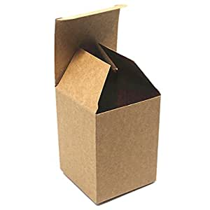 "2.36""x2.36""x3.93"" (6*6*10cm) 20 Pieces Brown Gift & Craft Cardboard Pack Boxes Press Stud, Earrings Small Ornaments Kraft Paper Boxes Wholesale"