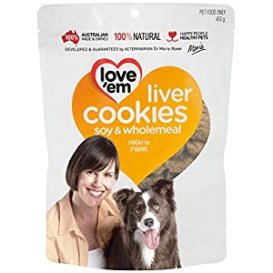 Love 'Em Liver Cookies, Medium and Large Dogs, Puppy, 450g Click on image for further info.