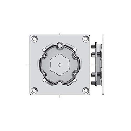 Somfy Motor Bracket with Spring Ring - Square (120mm x 120mm)