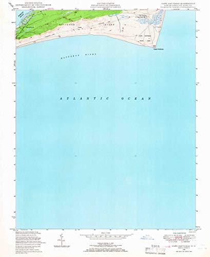 (YellowMaps Cape Hatteras NC topo map, 1:24000 Scale, 7.5 X 7.5 Minute, Historical, 1948, Updated 1966, 26.7 x 21.8 in - Polypropylene)