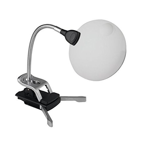Naturalight Led (Daylight UN1161 Naturalight StarMag LED Flexilens with Base and Clip, Black/Silver by Daylight)