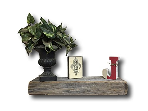 "Rustic Authentic Weathered Floating Shelf by Barnwood Decor of OKC (24"")"