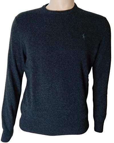 Polo Ralph Lauren Mens Crewneck Wool Sweater (S, BlackHtr)
