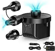 Karvipark Electric Air Pump, Electric Pump 2 in 1 Power Pump Inflator Deflator for air mattresses, inflatables
