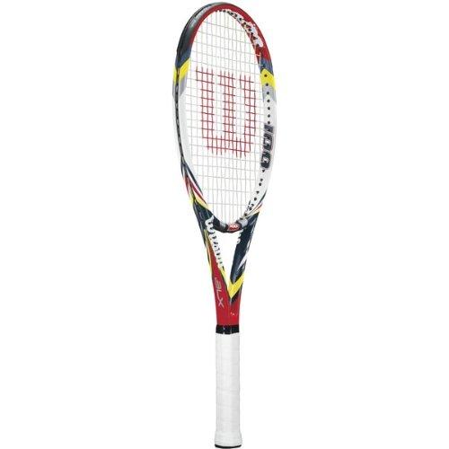 Wilson 2012 Steam 100 BLX Tennis Racquet - Red/Yellow/White/Black