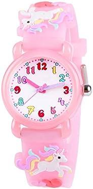 Venhoo Kids Watches 3D Cute Cartoon Waterproof Silicone Children Toddler Wrist Watches Time Teacher Gift for B