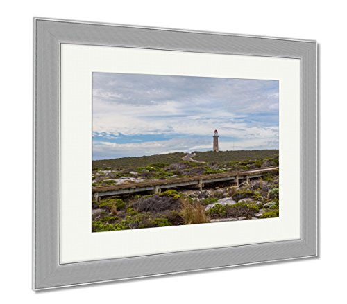 Ashley Framed Prints Cape Du Couedic Lighthouse Flinders Chase National Park Kangaroo Island South, Wall Art Home Decoration, Color, 34x40 (frame size), Silver Frame, - Shops Casuarina