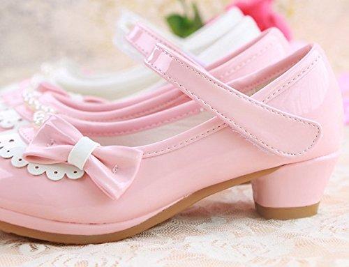 Ohmais Kinder Mädchen flach Freizeit Sandalen Sandaletten Kleinkinder Mädchen Halbschuhe Sandalette Ballerinas Pink