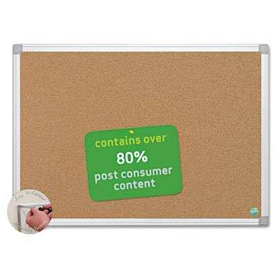 Earth Cork Board, 36 x 48, Aluminum Frame, Sold as 1 Each by Generic