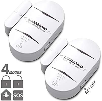 LACORAMO DA-05 Alarma de Puerta y Ventana, Set de 2 Sensor de ...